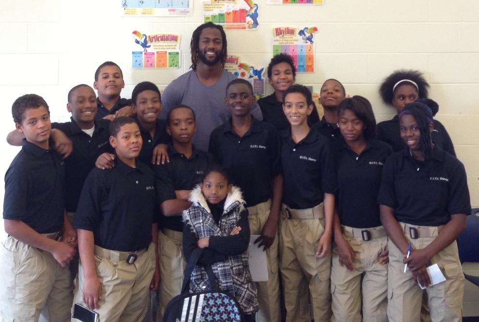 MJ VIsits Rockdale Academy