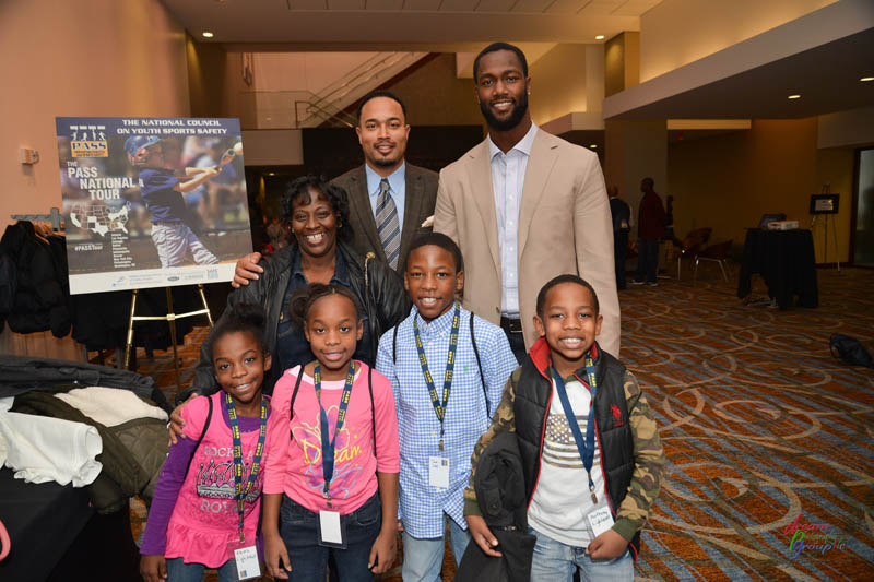 OFF FIELD BUZZ: Michael Johnsons Joins, ESPN's Cari Champion, Chuck Smith and Aja Evans PASS on Sports Safety Info to Youth Athletes