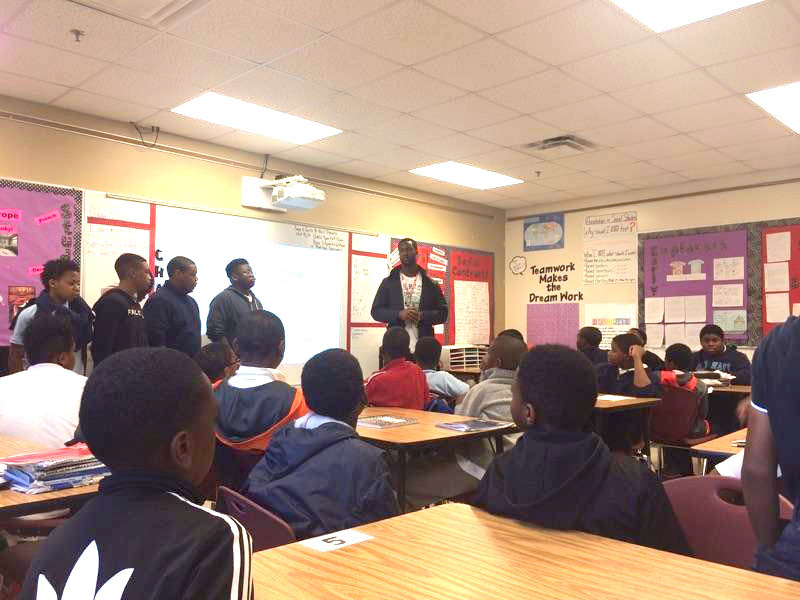 Visit to Atlanta Heights Charter School During BYE Week