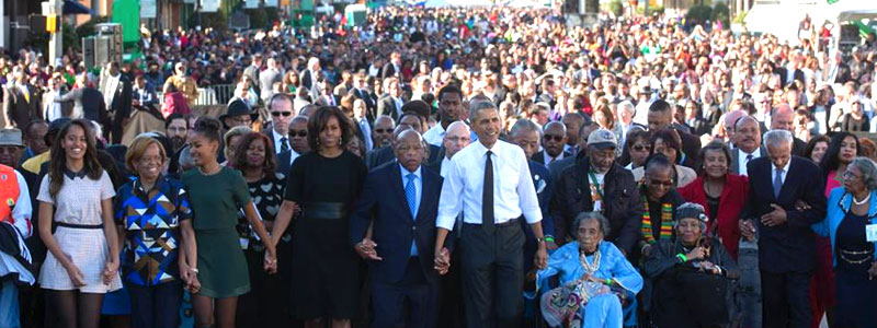 Selma: Michael Marches with The President