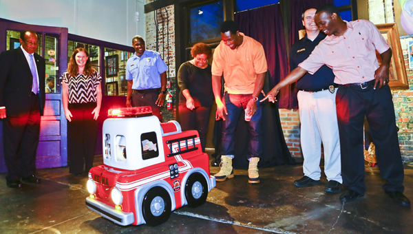 Johnson Honored For Giving Back to Fire Department