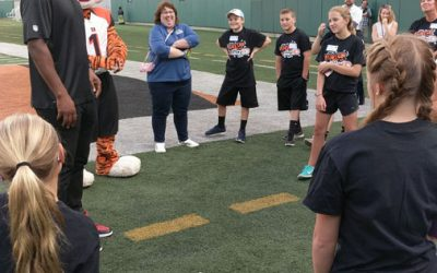 Michael D Johnson with NFL Fuel Up to Play 60 Program
