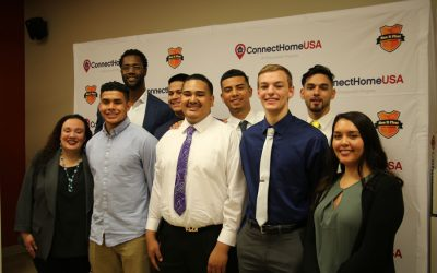 ConnectHomeUSA: College Signing Day with Michael Johnson – Photos
