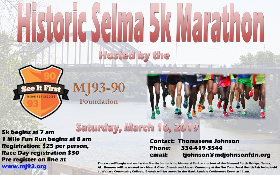 Historic Selma 5k Marathon -Sat. March 16th, 2019