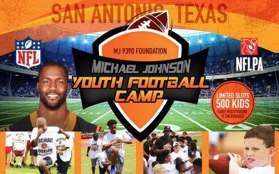 1st Annual Michael Johnson Youth Football Camp – March 30th – San Antonio, TX
