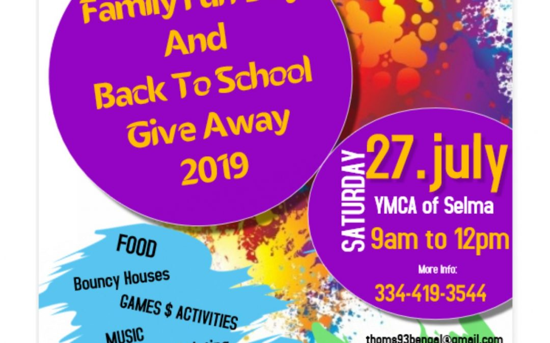 Family Fun Day – July 27th, 2019